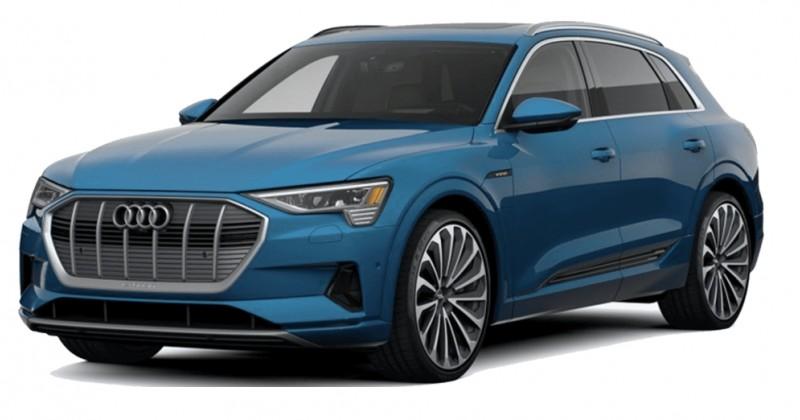 Audi E-tron met alu raamstrips